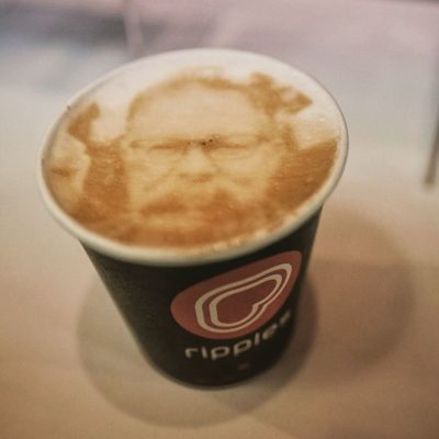 @coffeeripples couldn't have captured Paul better – mahalo for the #amazing #latteart! #coffeefest #anaheim