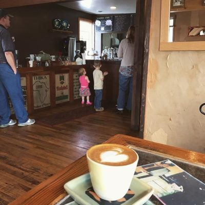 Red Rooster Cortado Exceptional' prepared by the smiling Jessica @redroostercoffeeroaster #floydva #blueridgeparkway #coffeeva