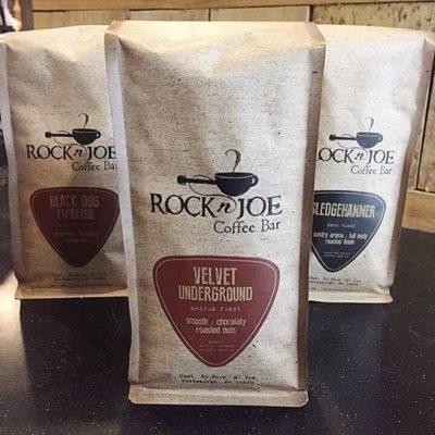 Rockin' every cup of delicious artisan #coffee @rocknjoecoffee #coffeepackaging #coffeepackagingprinting #customcoffeebags #regram 📷: @rocknjoecoffee