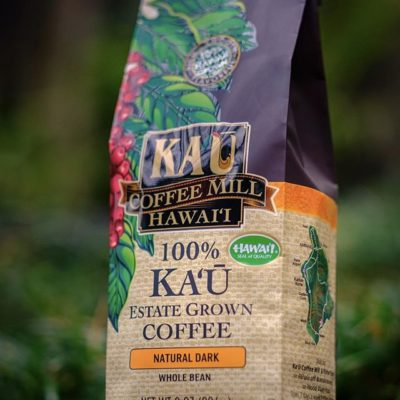 Grown, hand-picked and milled on the slopes of #maunaloa @kaucoffeemill where ancient volcanic soils, #hawaii ☀️ and rain nourish #coffee trees #coffeepackaging #coffeepackagingprinting #customcoffeebags #greatbrandsgreatpackage