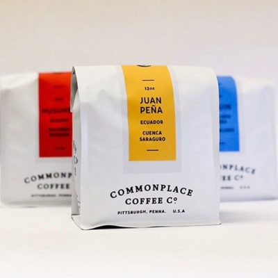 Roasted with craft and care @commonplacecoffee in beautiful new #packaging designed by @colinmiller #specialtycoffee #coffeepackaging #customcoffeebags #coffeepackagingprinting 📷: @commonplacecoffee