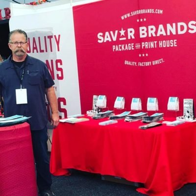 If you're at #mice2017, stop by booth 207 and meet Paul! He has great #coffeepackaging tips and samples to share. #elevateyourbrand #customcoffeebags #coffeepackagingprinting