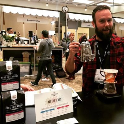 Mahalo Matt Yarmey @pureintentionscoffee for the delicious #specialtycoffee @specialtycoffeeassociation #coffeeexpo2017. if you're ever in #charlottenc, you won't want to miss @pureintentionscoffee! #coffeeexpo #coffeepackaging