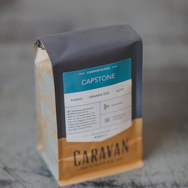 Sourced, roasted & brewed with intention @caravan_coffee  in delightful #packaging. Roasted by hand in #newbergoregon for over 20 years. #greatbrandsgreatpackage #coffeepackaging #customcoffeebags #coffeepackagingprinting designed by @carygriff 📷: @caravan_coffee
