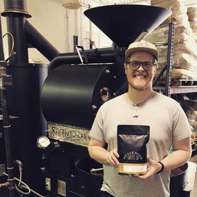 Good times with Blake @messengercoffee, roasting excellent beyond #fairtrade sourced #coffee in #kansascity #greatbrandsgreatpackage #coffeepackaging #customcoffeebags #coffeepackagingprinting
