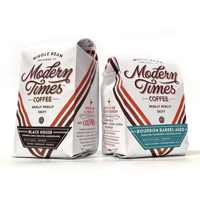 We're a fan of this awesome #packaging @moderntimesbeer, one of the only breweries in the world to roast their own #specialtycoffee in-house! Trust us, it tastes as good as it looks! #qualityinsideout #greatbrandsgreatpackage #coffeepackaging #customcoffeebags #coffeepackagingprinting 📷: @moderntimesbeer