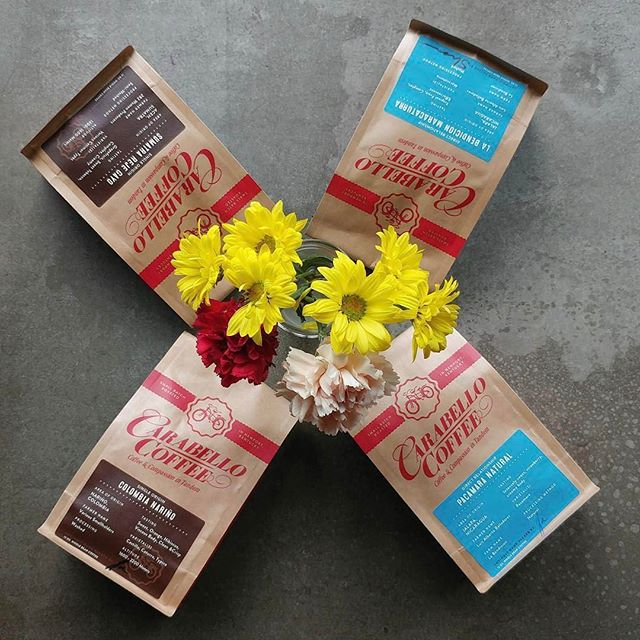 #Coffee and compassion in tandem @carabellocoffee in #newportky Offering the best in quality through #fairtrade, #organic and #farmdirect and #directrelationshipcoffee #greatbrandsgreatpackage #coffeepackaging #customcoffeebags #coffeepackagingprinting 📷: @carabellocoffee