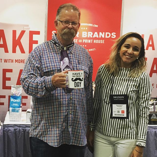 Having a fan-stache-tic day @coffeefestshow #Chicago! Stop by booth #622 to see our #packaging samples and how we bring packaging to life!  #specialtycoffee #chicagocoffee #coffeefestchicago  #coffeepackaging #customcoffeebags #coffeepackagingprinting