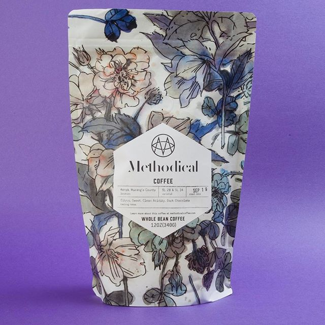 Beautifully roasted, brewed and packaged @methodicalcoffee in #greenvillesc #greatbrandsgreatpackage #qualityinsideout #coffeepackaging #customcoffeebags #coffeepackagingprinting