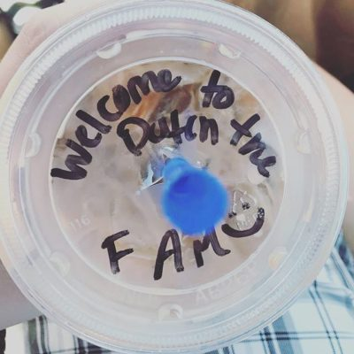 Awww, @dutchbroscoffee gave Jake (Paul's grandson) the warmest welcome to the #dutchbros fam with his first Dream Weaver. Thanks for making our day! 💙💙💙 #dutchluv #thelittlethings #coffeeculture