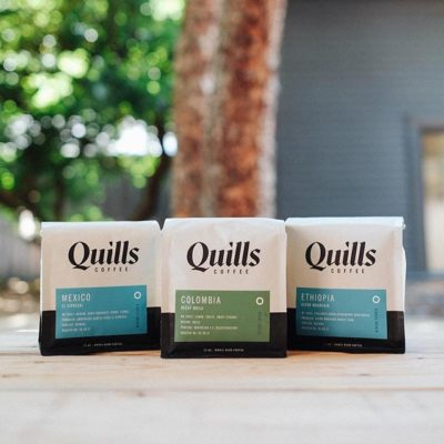 Naturally processed #coffee perfectly packaged @quillscoffee #qualityforall #greatbrandsgreatpackage #coffeepackaging #customcoffeebags #coffeepackagingprinting 📷: @quillscoffee