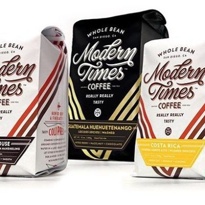 Deliciously modern #packaging  of really, really tasty #specialtycoffee @moderntimesbeer in #sandiego #qualityinsideout #coffeepackaging #customcoffeebags #coffeepackagingprinting 📷: @moderntimesbeer