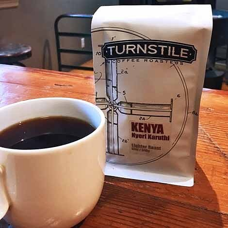 #SpecialtyCoffee craft-roasted from crop to ☕️ @turnstilecoffee in #BelmarNJ #qualityinsideout #coffeepackaging #customcoffeebags #coffeepackagingprinting 📷: @turnstilecoffee