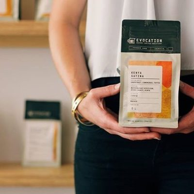 Every bag on the shelf of @evocationcoffee is meticulously sourced and  roasted with precision 72 hours ago or less. #qualityinsideout #greatbrandsgreatpackage #specialtycoffee #coffeepackaging #customcoffeebags #coffeepackagingprinting 📷: @evocationcoffee Design: @calibercreative