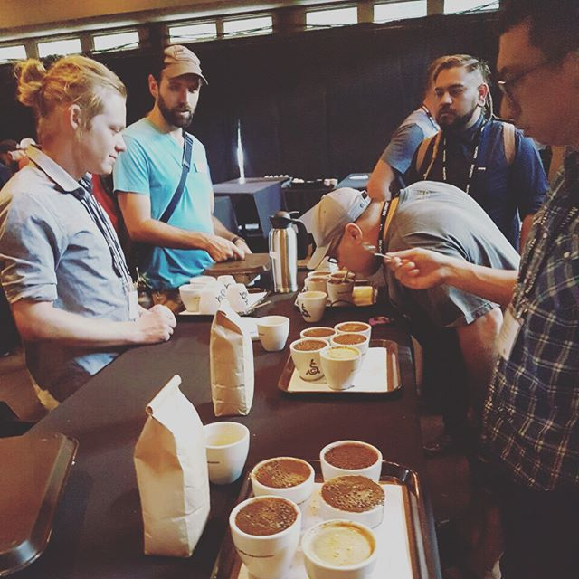 Roastin' and cuppin' ☕️ @roastersguild #RGRetreat