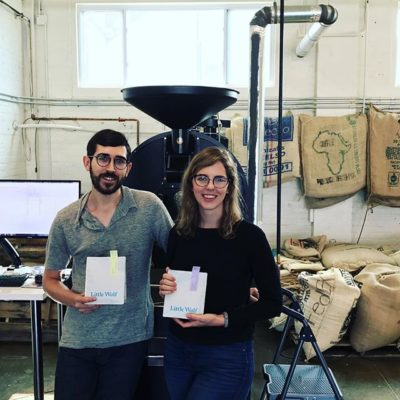 Awesome catching up with Melissa & Chris @lilwolfcoffee in #IpswichMA #greatbrandsgreatpackage #specialtycoffee #coffeepackaging #customcoffeebags #coffeepackagingprinting