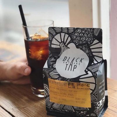 Proudly sourcing and roasting #specialtycoffee from around the world @blacktapcoffee with #southernhospitality ❤️ #coffeepackaging designed by @jonathanrypkema #customcoffeebags #coffeepackagingprinting 📷: @alyssahiller_