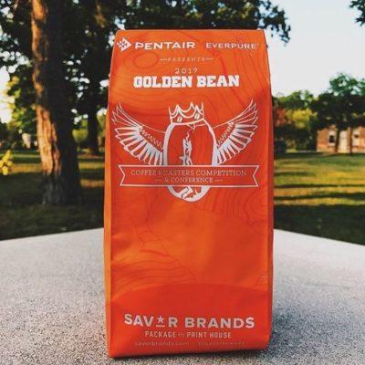 Excited to be @goldenbean.northamerica in #PortlandOregon! #coffeepackaging #customcoffeebags #coffeepackagingprinting 📷: @reprisecoffeeroasters