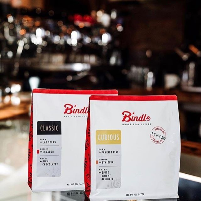 ❤️ this delightful new look @bindlecoffee, which packages and protects their pure, simple and delicious #specialtycoffee. Beautifully designed and 📷 by @kronebergerstudio. #qualityinsideout #coffeepackaging #customcoffeebags #coffeepackagingprinting