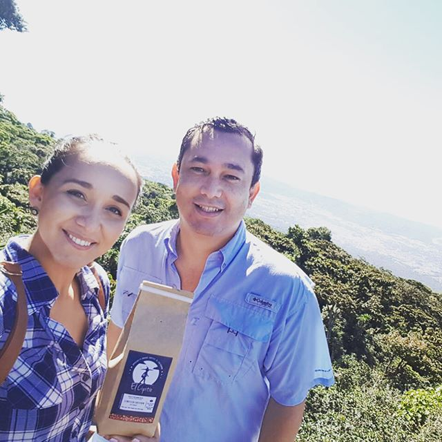 Coffee from @elcipitiocoffee in #ElSalvador is grown at elevations of 5,000 to 5,900 feet, where frequent strong winds allow for the plantation to be shade-grown. We're excited to be working with @mrcz2013, and so enjoyed our visit at Finca San Antonio at #sansalvadorvolcano! #elsalvadorcoffee #specialtycoffee #coffeefarm #specialtycoffeeroaster