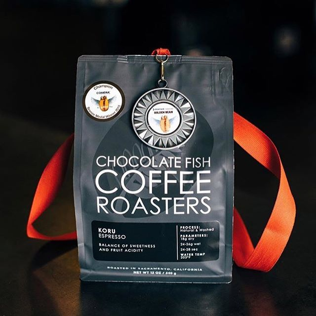Congrats @chocfishcoffee on your award-winning #specialtycoffee @goldenbean.northamerica. Thank you for spreading happiness and #goodcoffee daily! #qualityinsideout #coffeepackaging #customcoffeebags #coffeepackagingprinting