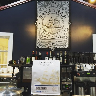 Mostly good!!! But a little evil is ok @savannahcoffee #georgiacoffee #savannahgeorgia