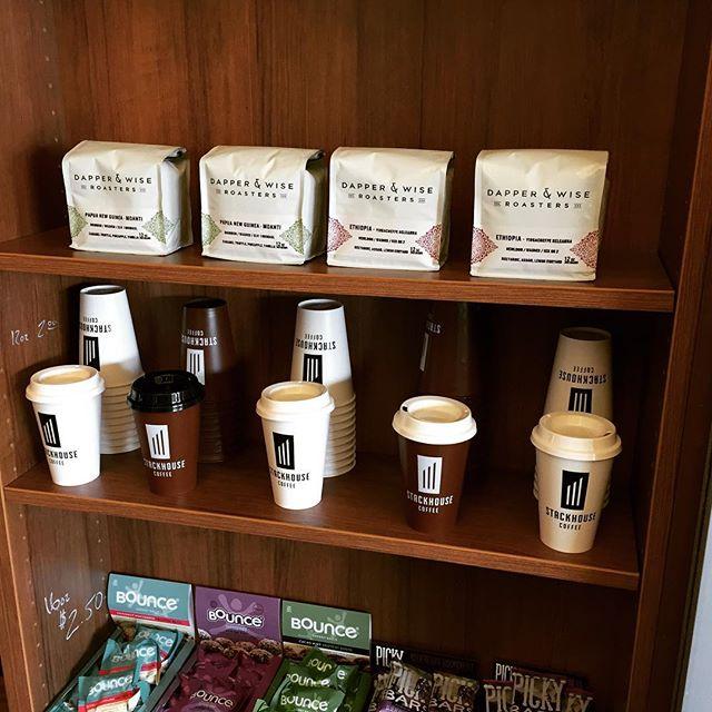 Stackhouse Coffee offering up some of my favorite peeps @dapperandwise roasts @stackhousecoffee in Bend #stackhouse #bendoregon #dapper&wise #nicepackaging #savorbrands