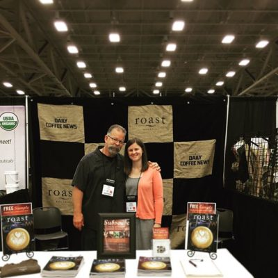 It was nice seeing Kelsey Mutter from @roastmagazine at coffeefest yesterday. Remember, visit booth 802! #coffeefest #roastmagazine #savorbrands