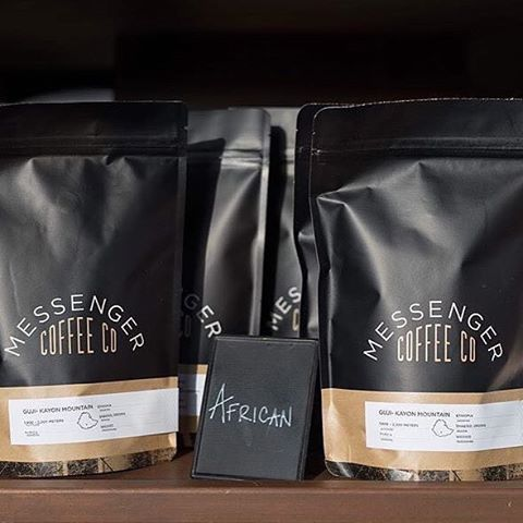 black on kraft: @messengercoffee has been roasting excellent artisan #coffeeforthepeople  check out their back2school special for 20% off any 12 oz coffee on their site through the end of the month! #kccoffee #farmdirect #nicepackage #kraftpaperlove 📷: @messengercoffee