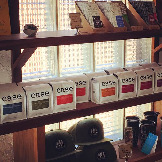 Casing out @case_coffee_roasters in #ashlandoregon #specialtycoffee #drinkgoodcoffee #greatpackaging