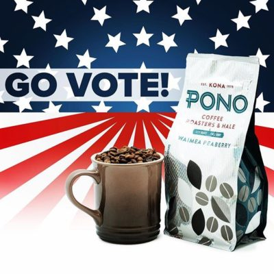 Pono = do the right thing and #vote today! #govote #wevoted #electionday #pono #savorbrands