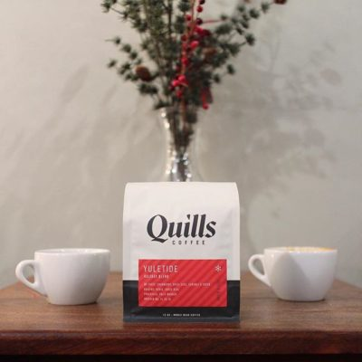 Cranberry, spice & everything nice! #yuletide #holiday blend @quillscoffee in festive new #packaging. #qualityforall #specialtycoffee #custompackaging #greatbrandsgreatpackage #regram 📷: @quillscoffee
