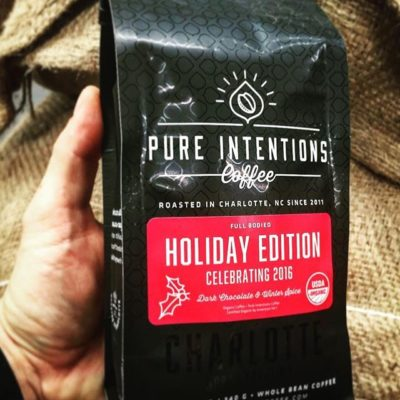 Celebrating the #holiday edition @pureintentionscoffee in beautiful #packaging #specialtycoffee #charlottenc #greatbrandsgreatpackage #regram 📷: @pureintentionscoffee