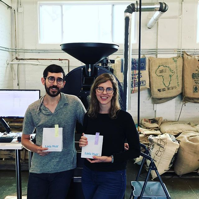 Awesome catching up with Melissa & Chris @lilwolfcoffee in #IpswichMA #greatbrandsgreatpackage #specialtycoffee #coffeepackaging #customcoffeebags #coffeepackagingprinting