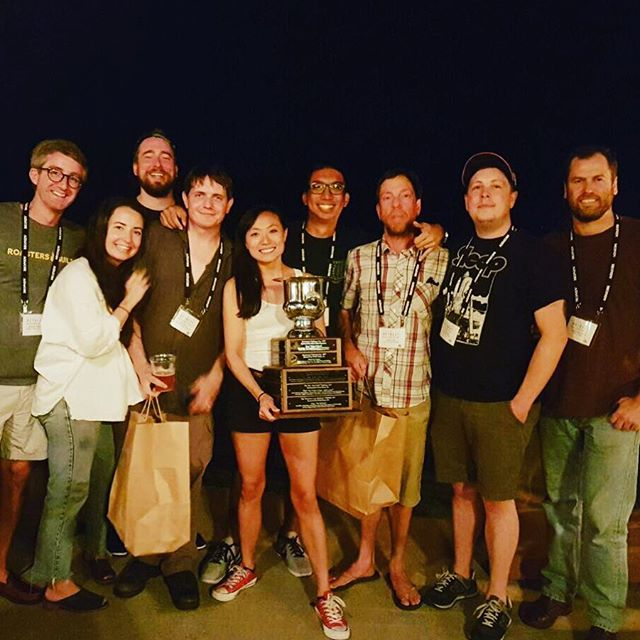 Congrats to #TheDrumRollers on winning the #RoastmasterChallenge! 🏆💪🏽@roastersguild #RGRetreat #specialtycoffee #coffeeroasting
