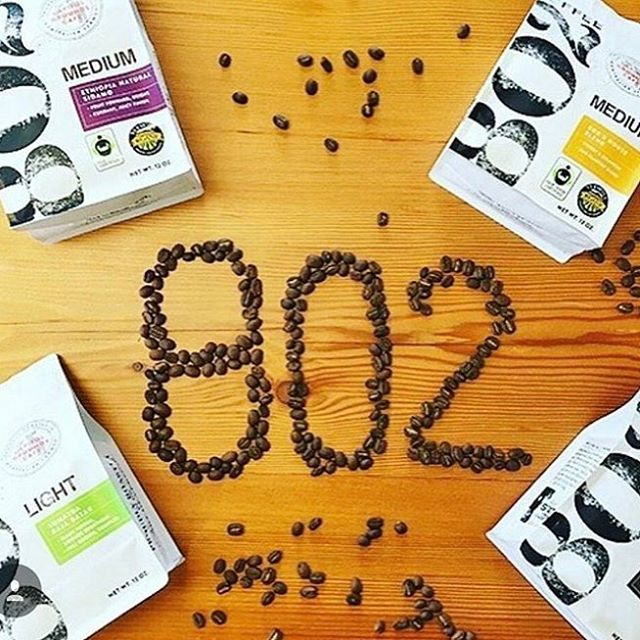 Roasting fresh #specialtycoffee in the heart of Vermont @802coffee #qualityinsideout #coffeepackaging #customcoffeebags #coffeepackagingprinting 📷: @citymarketcoop