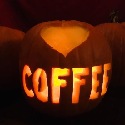 Wishing you a very caffeinated and #HappyHalloween! 🎃#specialtycoffee #halloweencoffee #coffeebreak