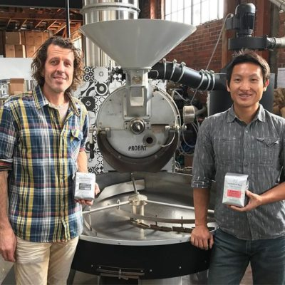 We had the best time with Aaron and Geoff checking out @handlebarcoffee's new #roasterycafe in #SantaBarbara – awesome vibes and of course delicious #specialtycoffee! #qualityinsideout #coffeepackaging #customcoffeebags #coffeepackagingprinting