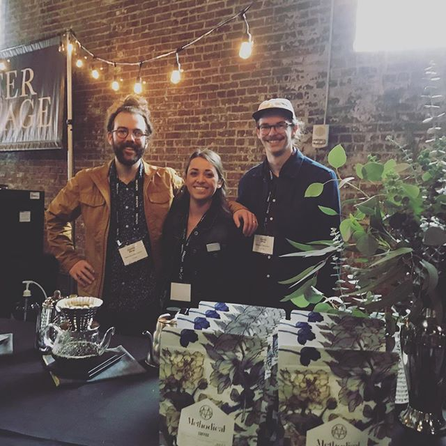 Kicking off #USCoffeeChamps in #NOLA with @methodicalcoffee! 💙 #specialtycoffee #coffeepackaging