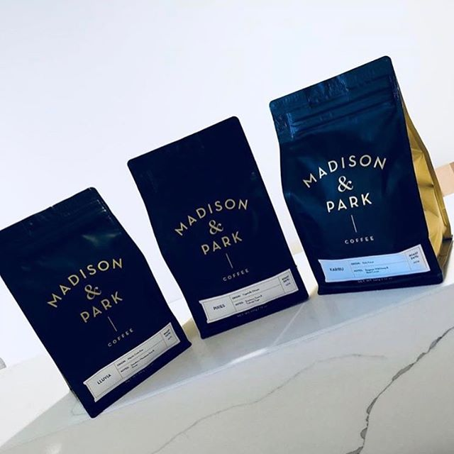 Bringing NY charm, cozy vibes and extraordinary coffee to the ❤️ of #WeHo @madisonandparkcoffee #specialtycoffee #coffeepackaging #customcoffeebags 📷: @madisonandparkcoffee