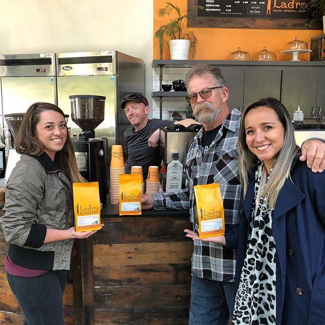 Thank you Ian @ladroroasting for the  delicious #honeylavenderlatte 🍯 👌🏽#specialtycoffee #coffeepackaging #customcoffeebags