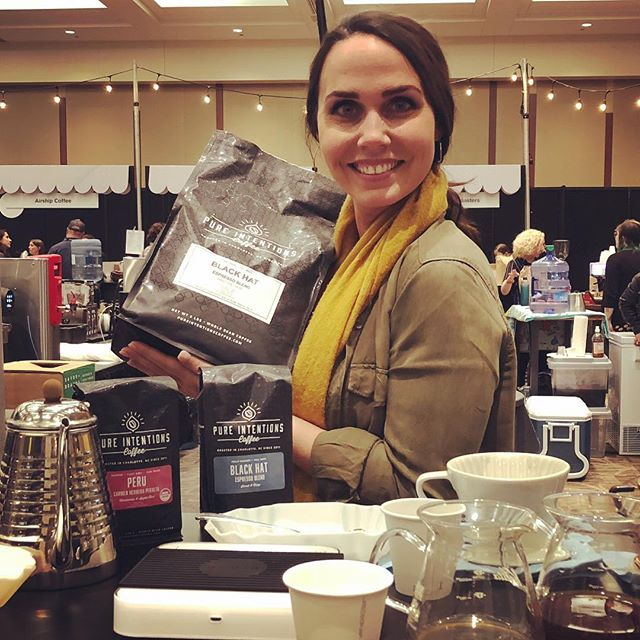 Thank you @jesielaine @pureintentionscoffee for the delicious #specialtycoffee! 👌🏽💙#coffeepackaging #wholesalecoffee #customcoffeebags