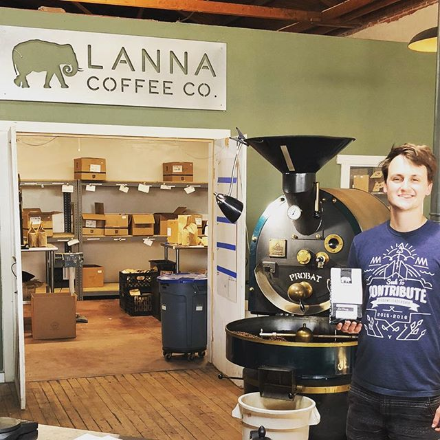 Awesome seeing Cory @lannacoffeeco, where every bag of #specialtycoffee creates clean water in the hill tribes of Northern Thailand. #doinggoodthroughcoffee #coffeepackaging #customcoffeebags