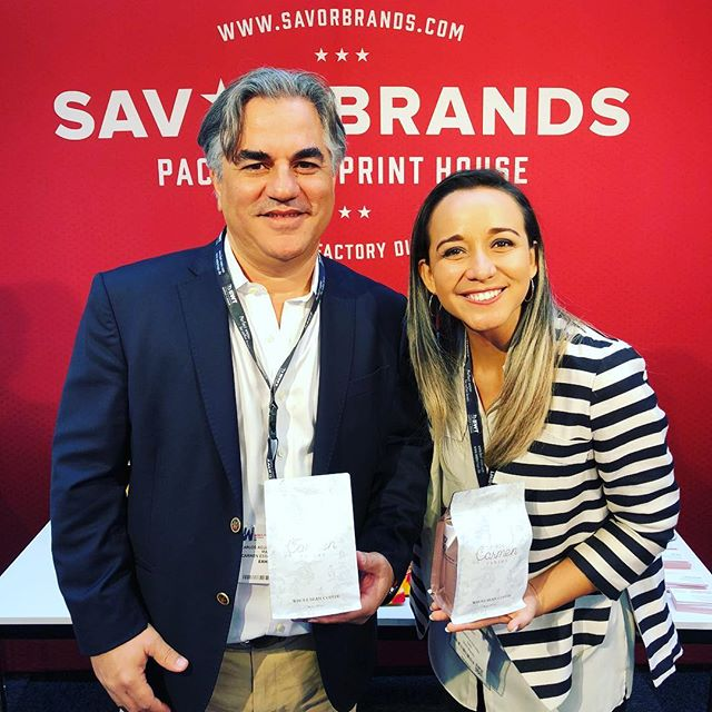 Great catching up with Carlos @carmenestatecoffee at #WorldofCoffee 🙌🏽 #panamaspecialtycoffee #bestofpanama #qualityinsideout #coffeepackaging