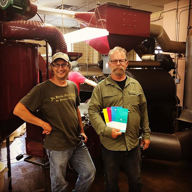 Great seeing Jeff and the @citygirlcoffee @alakef_coffee crew in #DuluthMN! #specialtycoffeeroaster #coffeepackaging #customcoffeebags