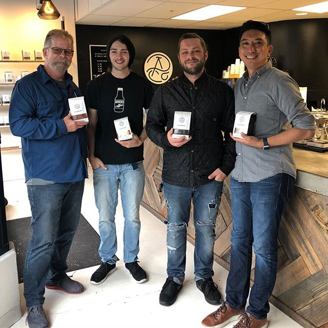 Catching up with Aaron and Austin @algorithmcoffeeco #specialtycoffeeroaster #craftedinberkeley #coffeepackaging #customcoffeebags