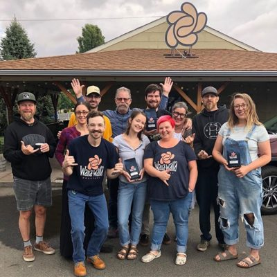 Did we tell you we love what we do?  The only thing we love more is the awesome people we get to work with, like the uplifting folks @wallawallaroastery. Can't imagine a better start to the week than catching up with this crew! #specialtycoffeeroaster #coffeepackaging #customcoffeebags