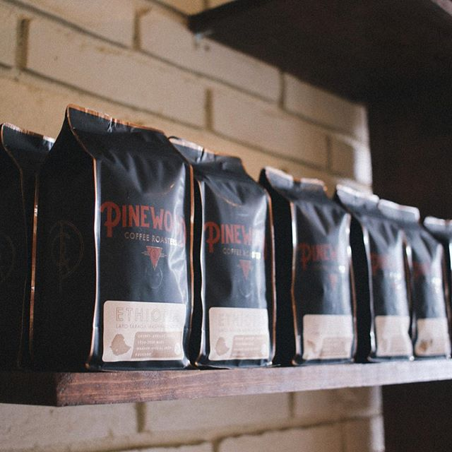 Genuine care for people, for product @pinewoodroasters • New #coffeepackaging beautifully designed by @briancloss #specialtycoffeeroaster #WacoTexas #customcoffeebags 📷: @pinewoodroasters, @lblackburn