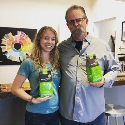 Great catching up with Jennifer @amavidacoffee, 2018 Roaster of the Year @roastmagazine 🙌🏽 #organiccoffee #fairtradecoffee #bcorp #specialtycoffeeroaster #coffeepackaging #customcoffeebags