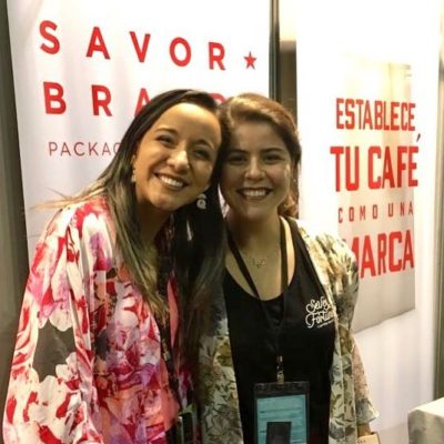Great catching up our dear friend  Maria from @sevenfortunes #Dubai at #icwbrazil! ♥️ #specialtycofffeeroaster #womenincoffee #coffeecommunity